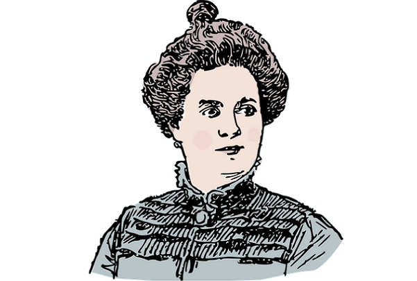 Illustration: a drawing of a woman