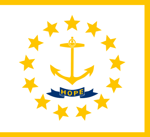 Illustration: Rhode Island state flag