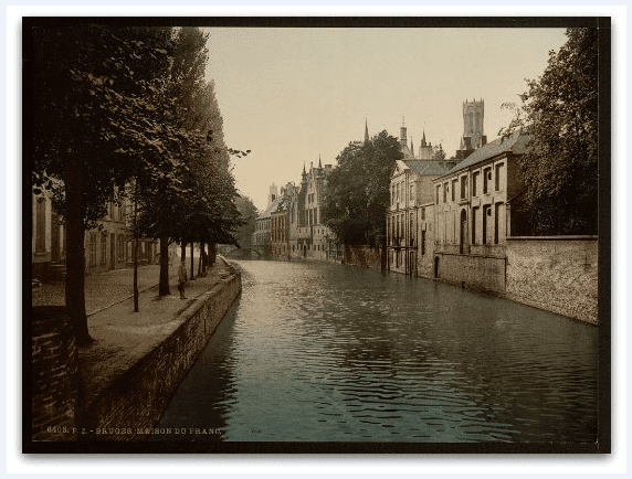 Photo: Maison du France, Bruges, Belgium. [between ca. 1890 – ca. 1900]