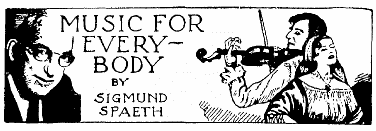 The masthead for the musical column written by Sigmund Spaeth, Springfield Union newspaper article 22 November 1953