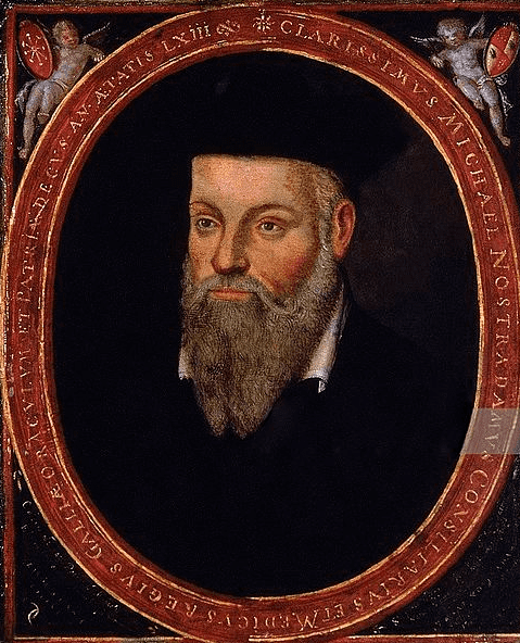 Illustration: portrait of Michel de Nostredame (Nostradamus), painted by his son César de Nostredame, c. 1614