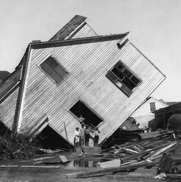 Photo: aftermath of Galveston, Texas, hurricane of 1900