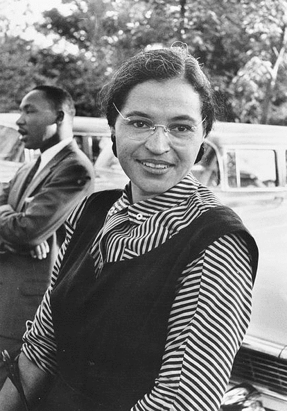 Photo: Rosa Parks with Dr. Martin Luther King, Jr., c. 1955