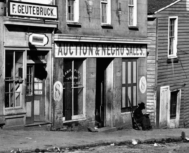 Photo: slave market, Atlanta, Georgia, 1864