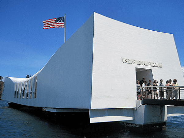 Photo: the USS Arizona Memorial, Pearl Harbor. Credit: Victor-ny; Wikimedia Commons.