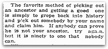 A column by humorist Roy K. Moulton, Daily Register Gazette newspaper article 26 March 1920