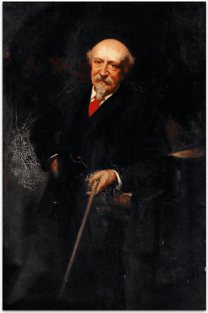 """Painting: """"Portrait of an Elderly Gentleman"""" by George Percy Jacomb-Hood, 1895"""