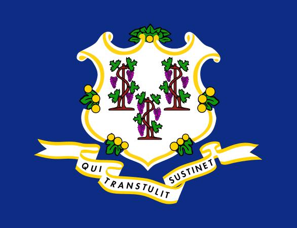 Illustration: Connecticut state flag