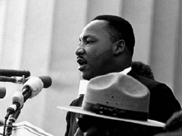 "Photo: Dr. Martin Luther King, Jr. giving his ""I Have a Dream"" speech during the March on Washington in Washington, D.C., on 28 August 1963. Credit: National Archives and Records Administration; Wikimedia Commons."