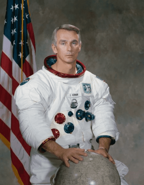 "Photo: astronaut Eugene Andrew ""Gene"" Cernan, December 1971"