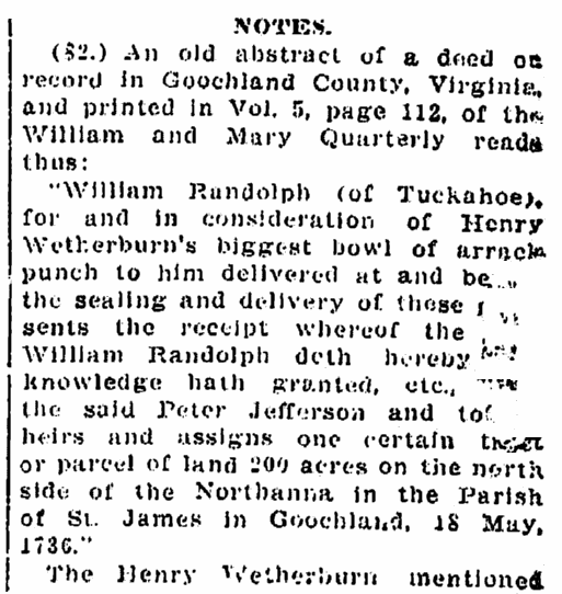 An article about William Randolph, Times-Picayune newspaper article 12 January 1913