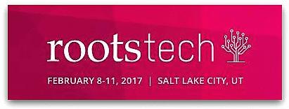 Illustration: logo for RootsTech 2017 genealogy conference