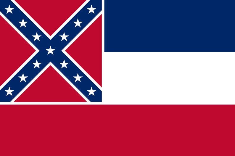 Illustration: Mississippi state flag