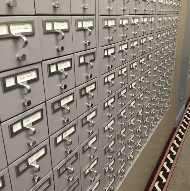 Photo: card catalog, Los Angeles Public Library, California