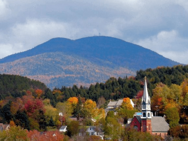 Photo: Burke Mountain from Lyndonville, Vermont. Credit: From the nek; Wikimedia Commons.