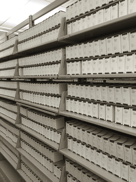Photo: a microfilm collection