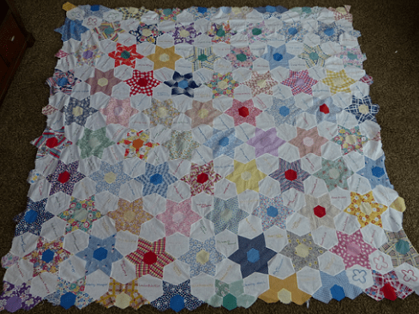 Photo: an antique quilt. Credit: Gena Philibert-Ortega.