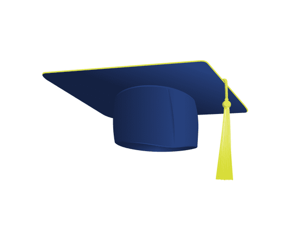 Illustration: college graduate's cap