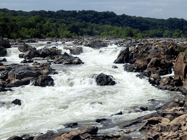 Photo: Great Falls on the Potomac River, Maryland. Credit: Joe Calhoun; Wikimedia Commons.