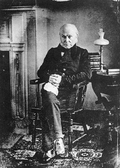 Photo: daguerreotype of John Quincy Adams taken by Philip Haas, c. 1843