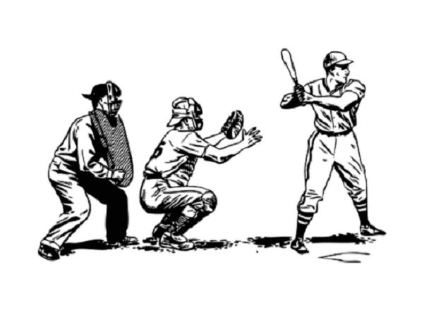Illustration: baseball player at bat