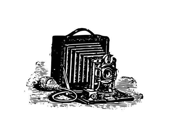 Illustration: an old camera