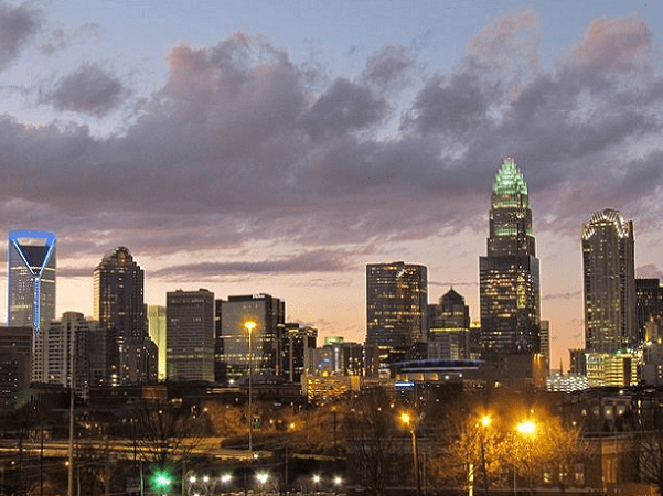 Photo: Charlotte, North Carolina, skyline. Credit: Riction; Wikimedia Commons.