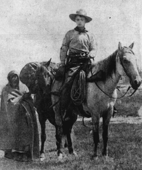 Photo: Frank E. Webner, Pony Express rider, c. 1861