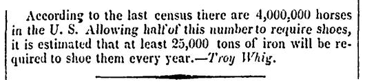 An article about the 1840 U.S. Census, Christian Intelligencer newspaper article 23 July 1842