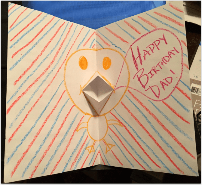 Photo: the inside of a birthday card
