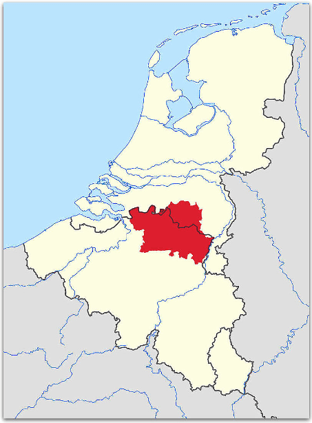 Map of de Kempen (Belgium and the Netherlands)