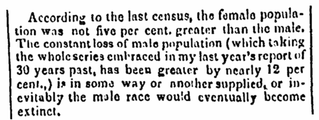 An article about the 1830 U.S. Census, New-York American for the Country newspaper article 29 January 1839
