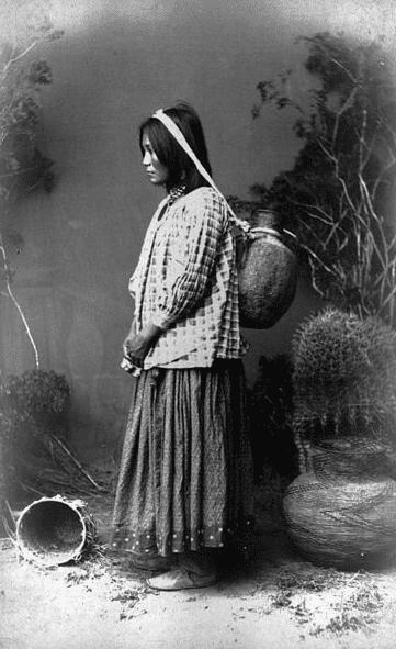 Photo: San Carlos Apache woman, c. 1883-1888