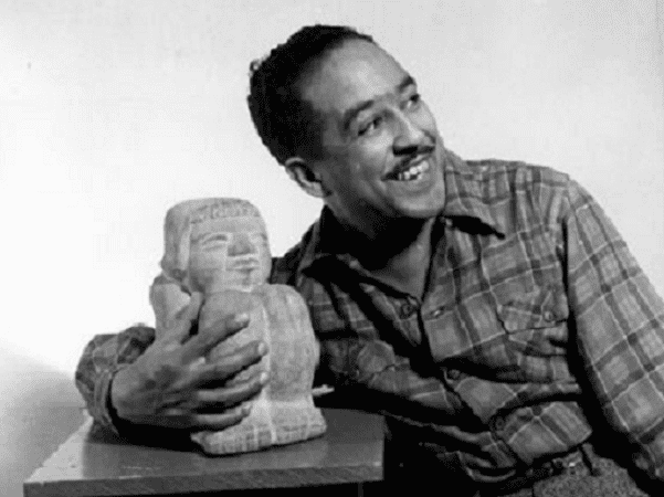 Photo: Langston Hughes, 1943. Credit: Gordon Parks; Library of Congress, Prints and Photographs Division.