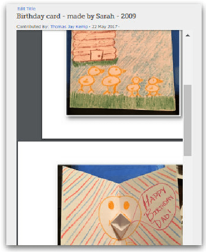 A screenshot showing the saving of a birthday card as a PDF file