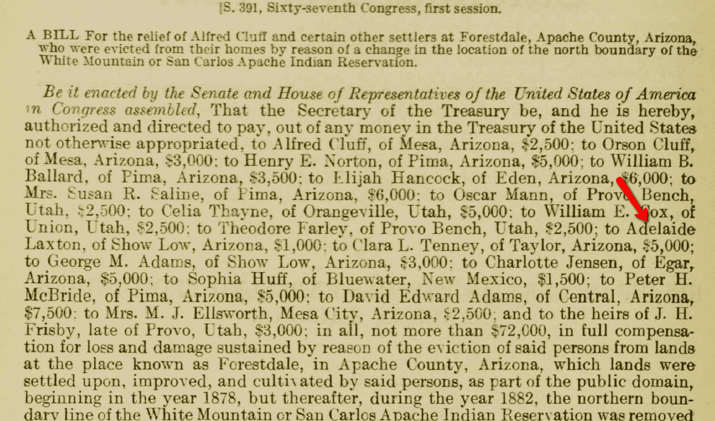 Senate Bill 391 from 1921, Serial Set Vol. No.7919