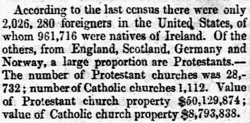 An article about the 1850 U.S. Census, Sun newspaper article 20 July 1854