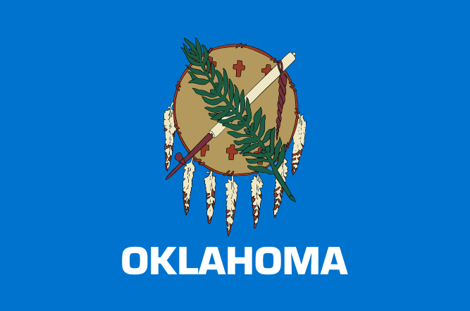 Illustration: Oklahoma state flag
