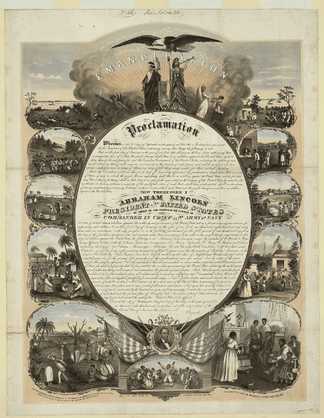 Source: Library of Congress Image of Lincoln's Emancipation Proclamation