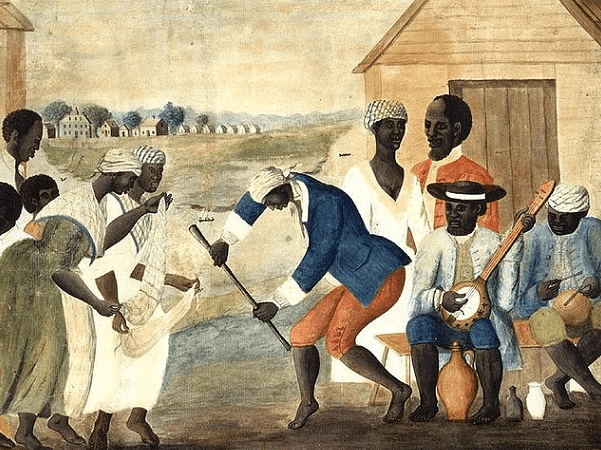 "Illustration: ""The Old Plantation"" (anonymous folk painting), late 1700s. Credit: Wikimedia Commons."