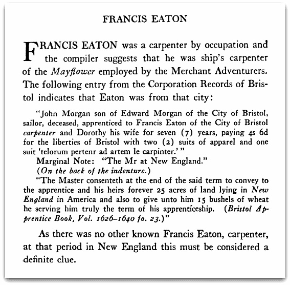 Source: Google Books, Banks, Charles Edward. The English Ancestry and Homes of the Pilgrim Fathers