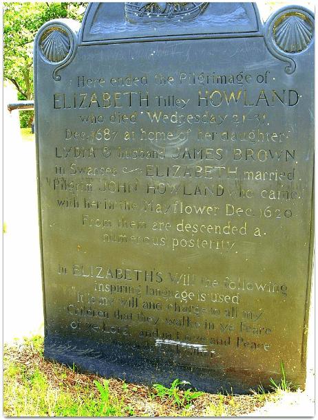 Photo: Elizabeth Tilley's tombstone