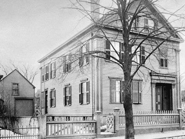 Photo: 92 Second St, Fall River, MA, the home of Lizzie Borden at the time of the murders as it appeared in 1892. Credit: Wikimedia Commons.