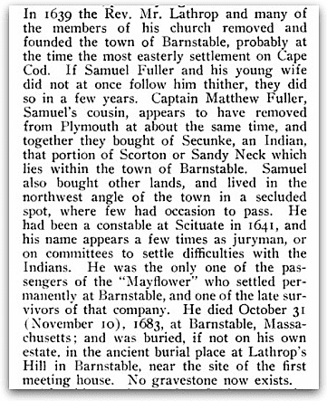 An article about Samuel Fuller from Google Books, Cutter, William Richard. Genealogical and Family History of Western New York. (New York, New York) 1912. page 817.