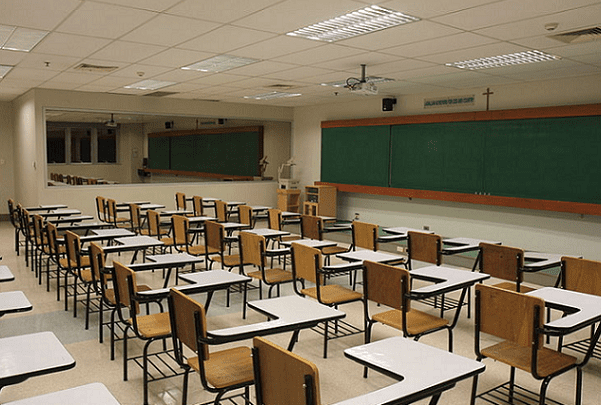 Photo: a classroom at the De La Salle University in Manila, Philippines. Credit: Malate269; Wikimedia Commons.