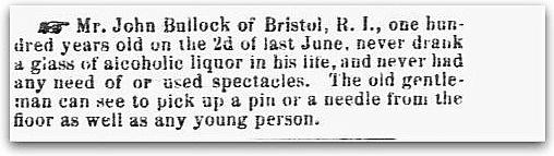 An article about John Bullock, Sun newspaper article 19 August 1869