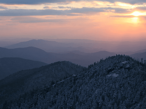 Photo: the Great Smoky Mountains of Sevier County, Tennessee. Credit: Aviator31; Wikimedia Commons.