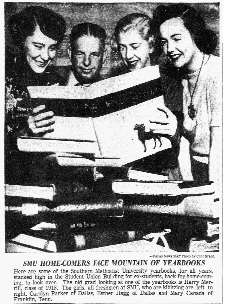 An article about school yearbooks, Dallas Morning News newspaper article 22 November 1952