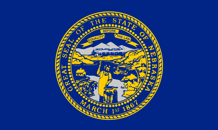Illustration: Nebraska state flag