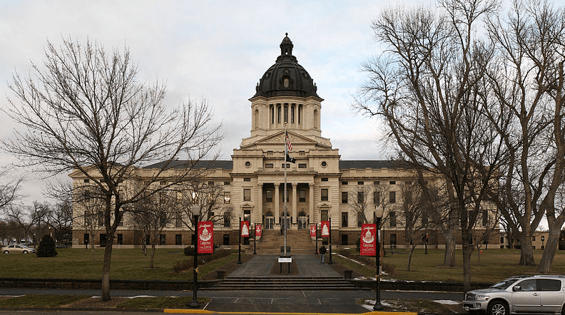 Photo: the South Dakota State Capitol building in Pierre, South Dakota